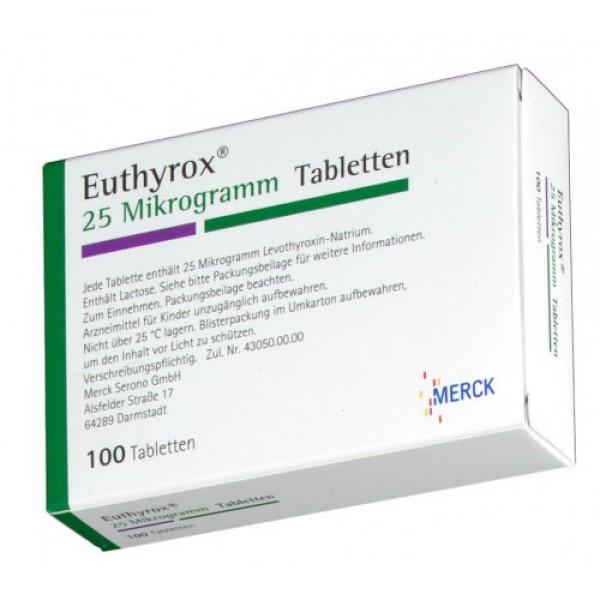 Эутирокс EUTHYROX 25 - 100 Шт