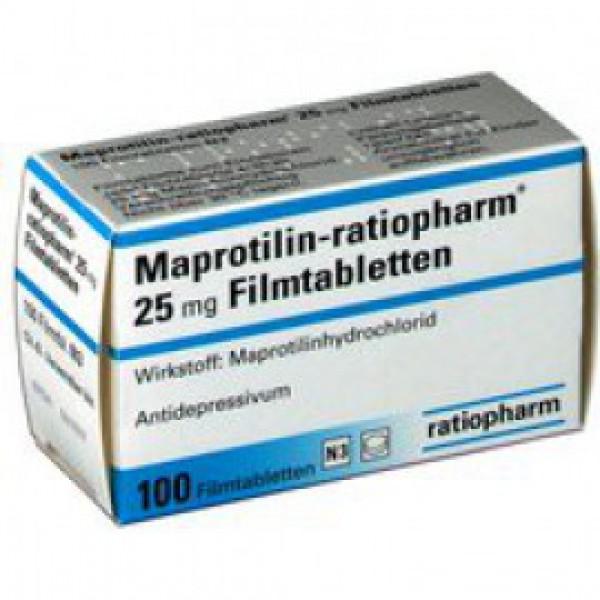 Мапротилин MAPROTILIN 25 Мг - 100 Шт