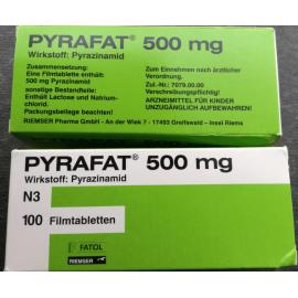 Изображение товара: Пирафат (Пиразинамид) PYRAFAT(Pyrazinamidum) 500MG - 100 Шт