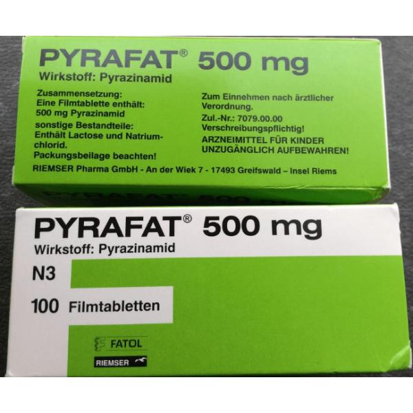 Пирафат (Пиразинамид) PYRAFAT(Pyrazinamidum) 500MG - 100 Шт