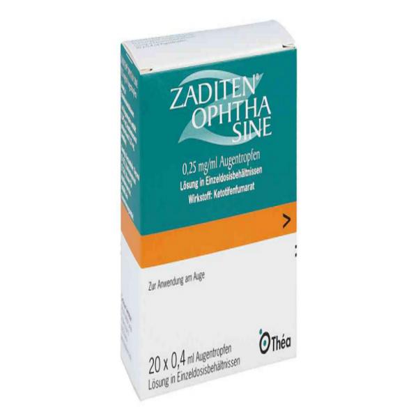 Задитен ZADITEN Ophtha 0,25 mg/ml - 50 Шт