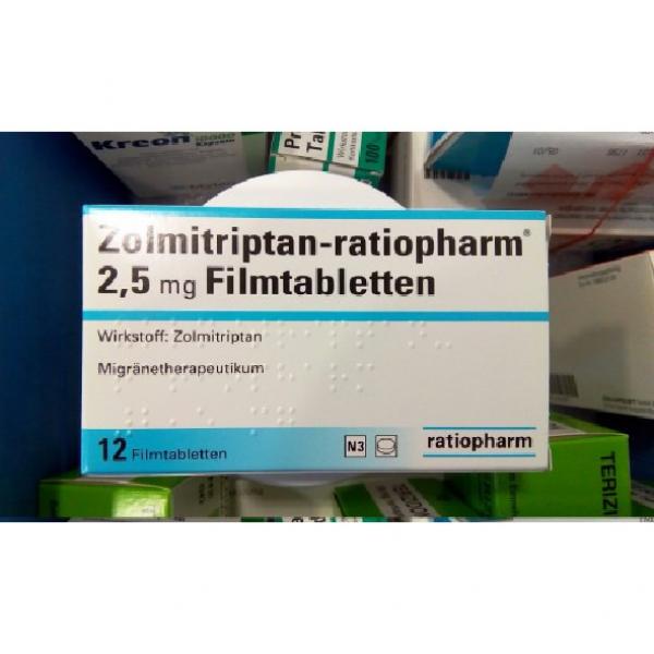 Золмитриптан ZOLMITRIPTAN 2.5MG - 12 Шт