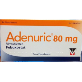 Изображение товара: Аденурик Adenuric 80 мг/ 84 таблеток