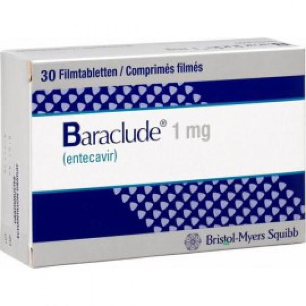 Бараклюд Baraclude 1 мг/ 90 таблеток