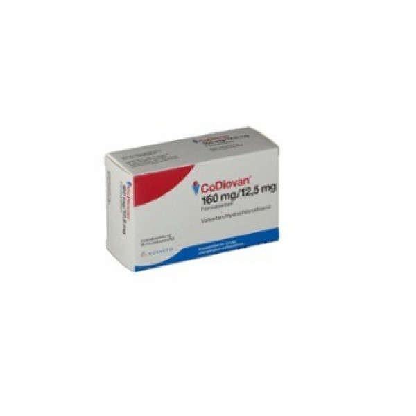 Ко-Диован CODIOVAN 160 mg/12,5 mg/98 Шт