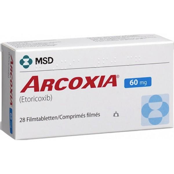 Аркоксиа Arcoxia 60 mg/100Шт