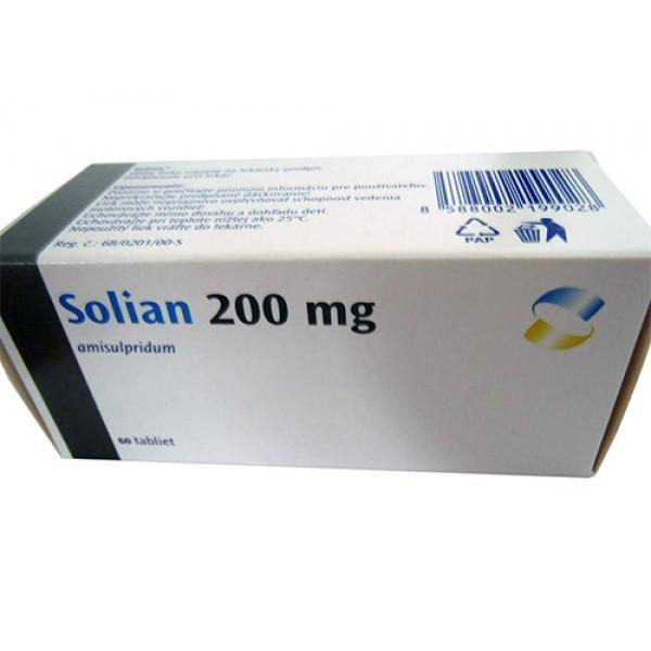 Солиан Solian 200 MG (Amisulprid) 100 Шт