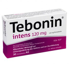 Изображение товара: Тебонин Tebonin Intens 120MG 30 Шт.