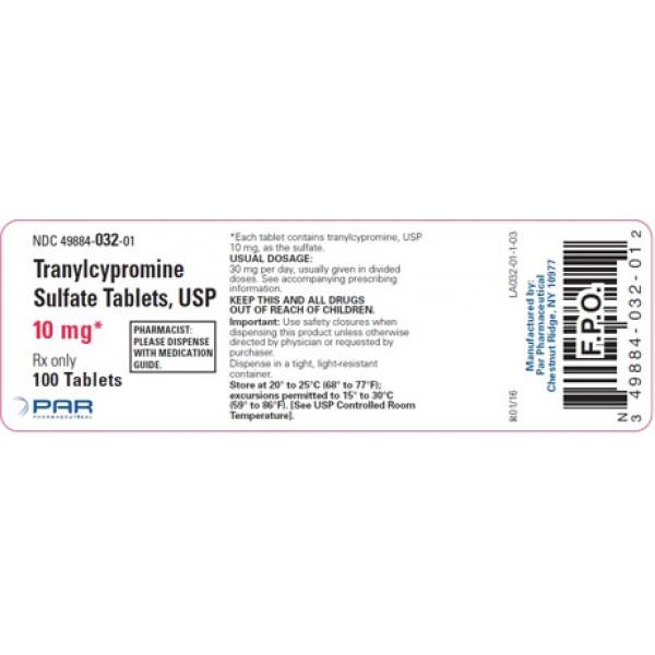 Транилципромин Tranylcypromin Neuraxpharm 20 Mg Filmtabletten (Tranylcypromin Sulfat) 100X20MG
