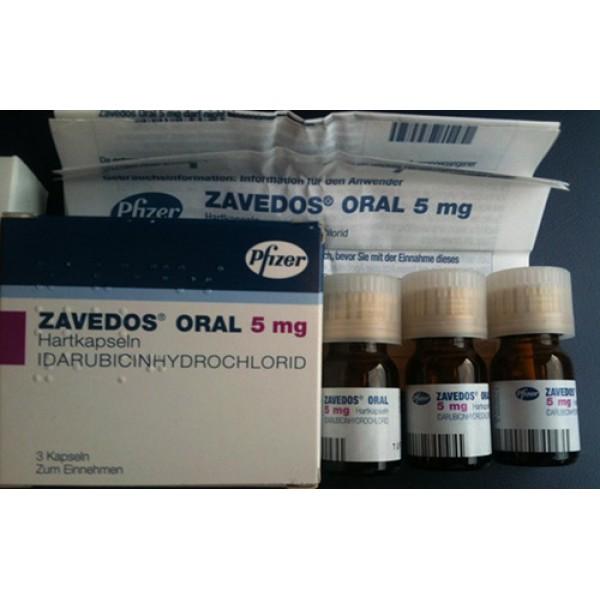 Заведос Zavedos 5 мг/3 капсулы